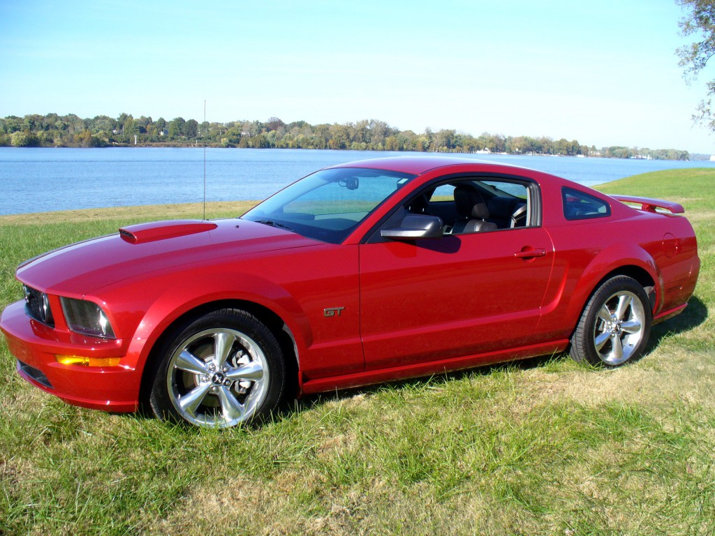 2008 mustang gt premium coupe dark candy apple red metallic with 45500 miles 5 speed manual transmission gt option package and premium trim interior