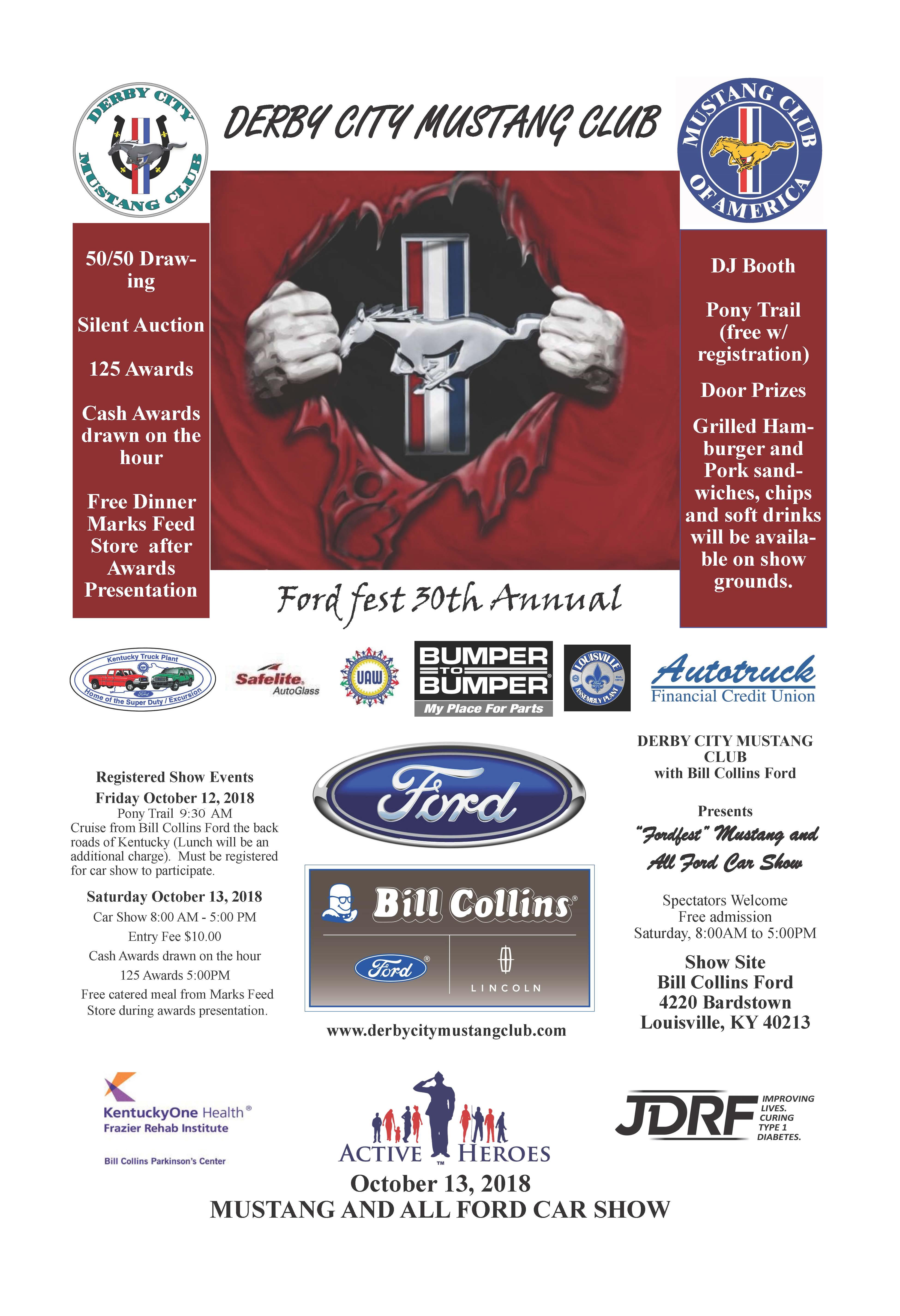 FordFest Derby City Mustang Club - Bill collins ford car show